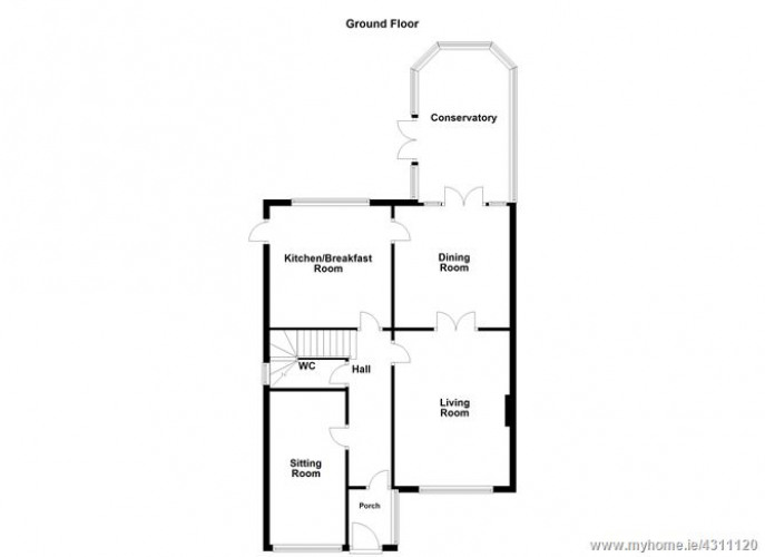 Floorplan for 2 Rossmore Drive, Templeogue, Dublin 6W