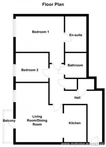 Floorplan for Apt. 255 Parklands, Northwood, Santry, Santry, Dublin 9