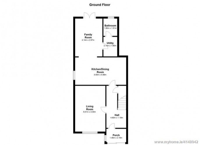Floorplan for 4 Heather Grove, Woodfarm Acres,, Palmerstown, Dublin 20