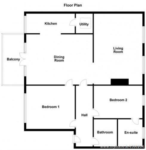 Floorplan for Apt 9, 18-21 Mount St Lower, Merrion Square, Dublin 2