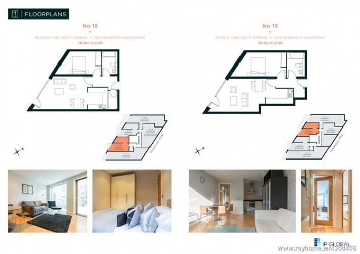 Floorplan for William Beckett House, South City Centre, Dublin 2