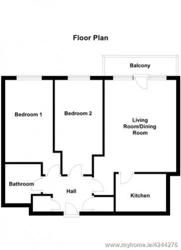 Floorplan for Apt 13 Windmill Lane Apartments, Grand Canal Dk, Dublin 4