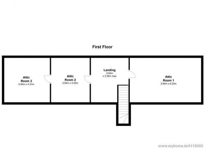 Floorplan for Riverside House, Davidstown, Donard, Co. Wicklow, Donard, Wicklow