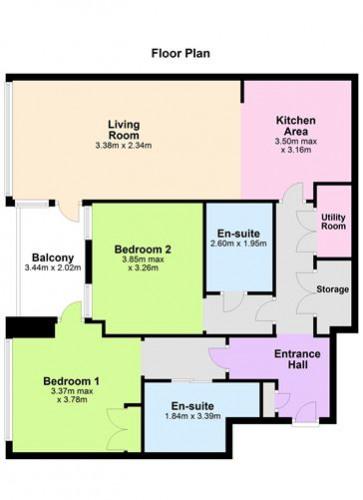 Floorplan for Apartment 31, The Barrington, Lansdowne Place, Ballsbridge, Dublin 4