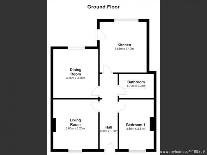 Floorplan for 5 Victoria Terrace, Dundrum, Dublin 14