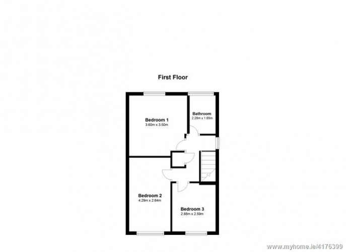 Floorplan for 21 The Lawn, Woodbrook Glen, Bray, Wicklow