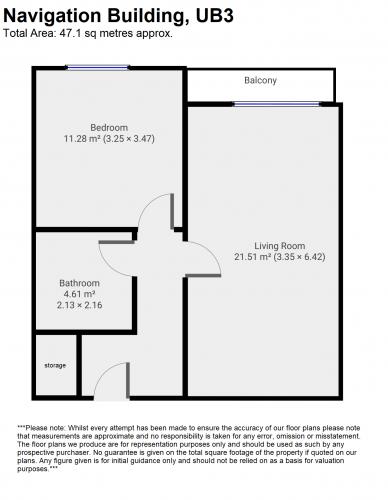 Floorplan for Navigation Building, High Point Village, London, UB3