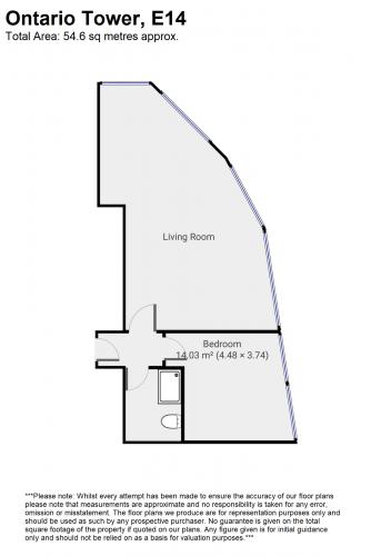 Floorplan for Ontario Tower, Fairmont Avenue, London E14