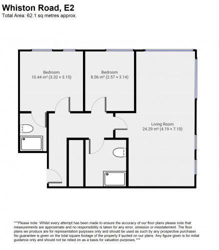Floorplan for Whiston Road, London, E2