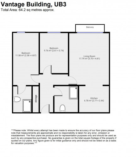 Floorplan for Navigation Building, London, UB3