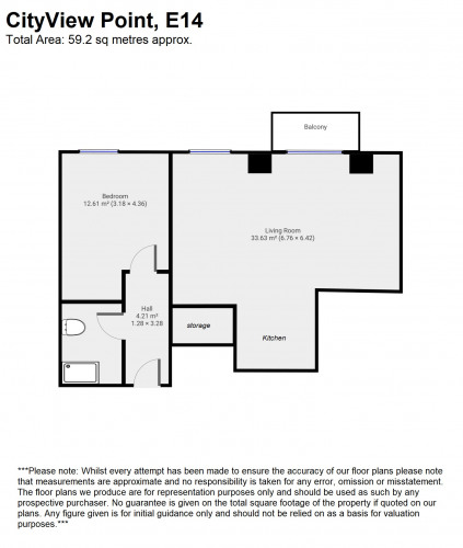 Floorplan for Cityview Point, 139 Leven Road, London, E14