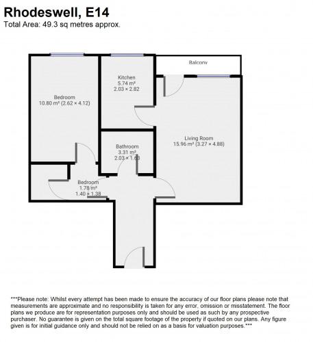Floorplan for Rhodeswell Road, London, E14