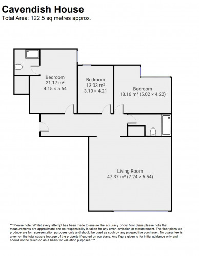 Floorplan for Cavendish House, Monck Street, London, SW1