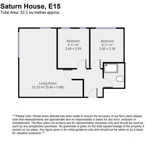 Floorplan for Saturn House, Wise Road, London, E15