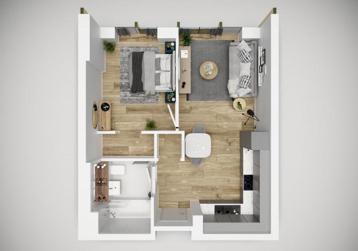 Floorplan for Michigan Tower, Michigan Avenue, Salford Quays, M50