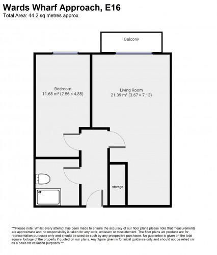 Floorplan for Kingfisher Heights, Bramwell Way, London, E16