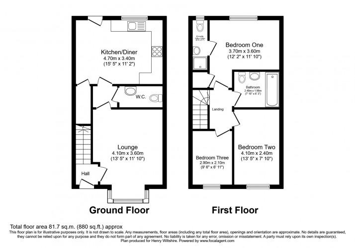 Floorplan for Florin Lane, Salford, M6