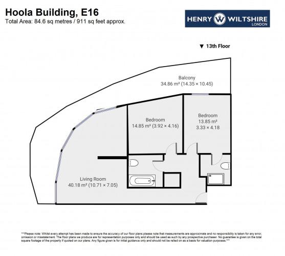 Floorplan for Hoola Building,  London E16