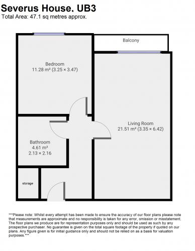 Floorplan for Severus House, UB3