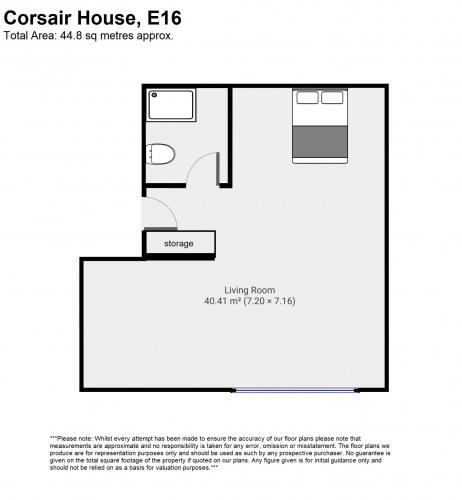 Floorplan for Corsair House, London E16