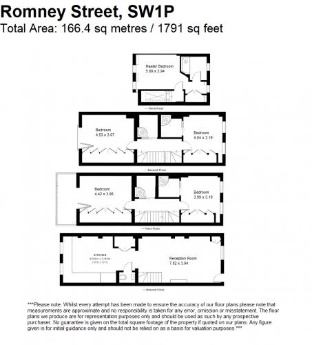 Floorplan for Romney Street, London SW1P