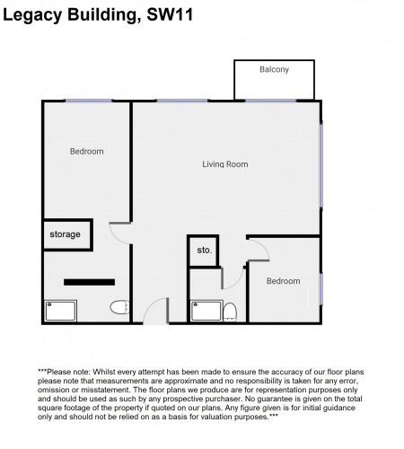 Floorplan for Legacy Building, London, SW11