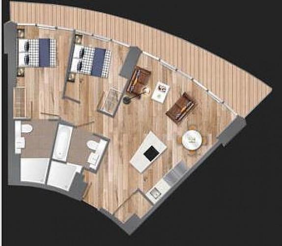 Floorplan for Arena Tower, Crossharbour Plaza, London, E14