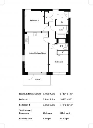 Floorplan for Aberfeldy Village, E14