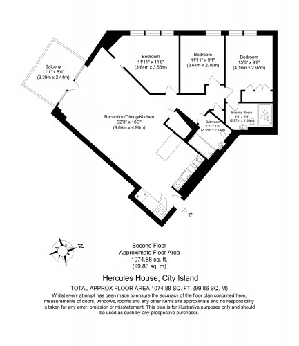 Floorplan for Hercules House, City Island,  E14