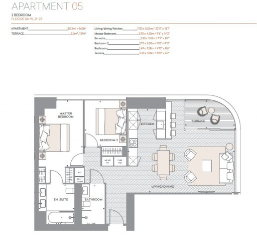 Floorplan for Principle Tower, EC2A
