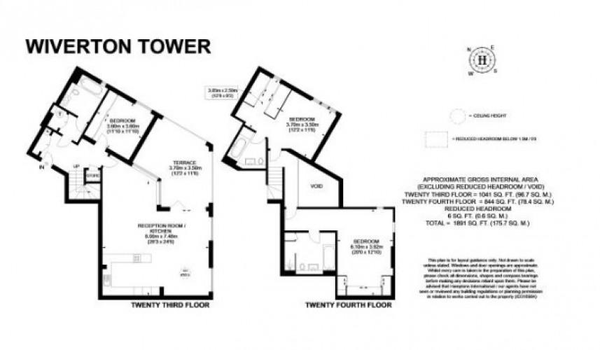 Floorplan for Wiverton Tower, London, E1 7PH