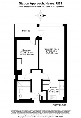 Floorplan for Vantage Building, Station Approach, Hayes
