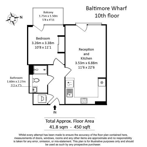 Floorplan for Baltimore Wharf, Canary Wharf, E14