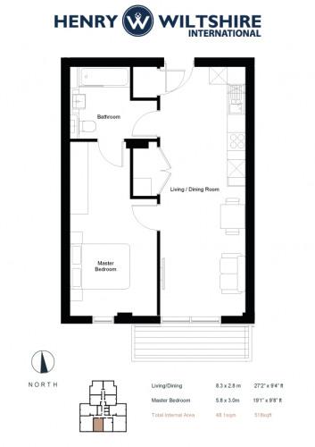 Floorplan for Verto Building, Kings Road, RG1