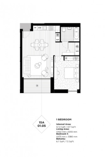 Floorplan for Sienna House Royal Wharf Development, E16