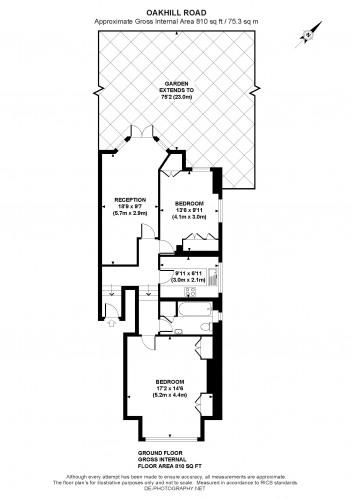 Floorplan for Oakhill Road, London, SW15