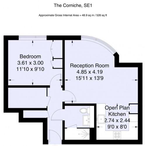 Floorplan for The Corniche, London, SE1