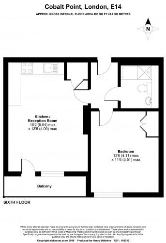 Floorplan for Cobalt Point, E14