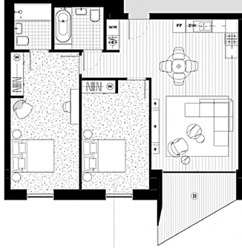 Floorplan for Carrick House,  Royal Crest Avenue, London, E16