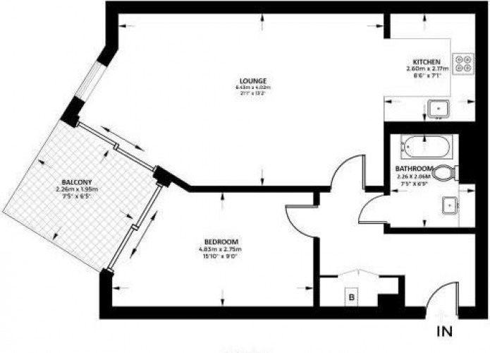 Floorplan for Baltimore Wharf, London, E14