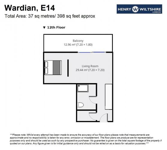 Floorplan for Wardian, E14