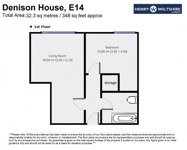 Floorplan for Denison House, E14