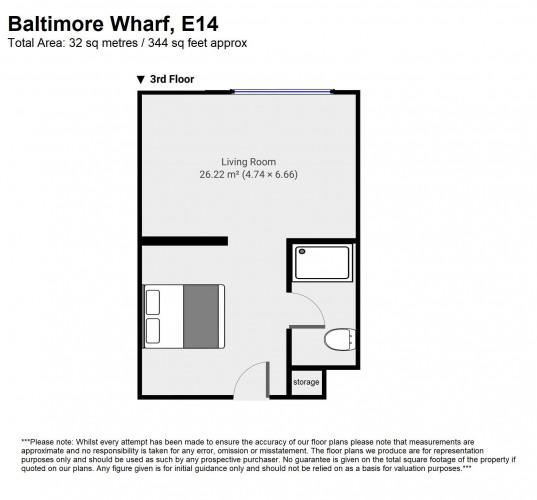 Floorplan for 12 Baltimore Wharf, London, E14