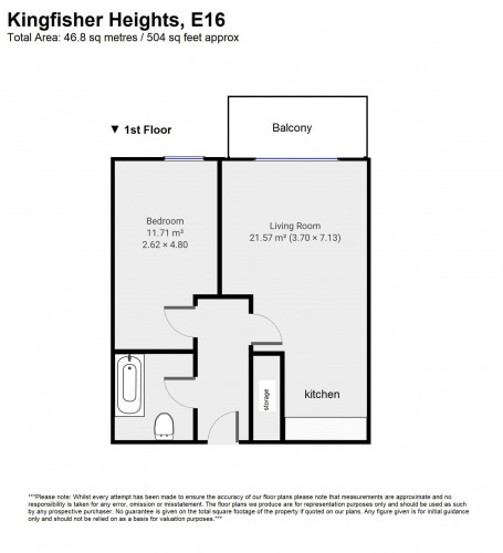 Floorplan for Kingfisher Heights, 2 Bramwell Way, London, E16