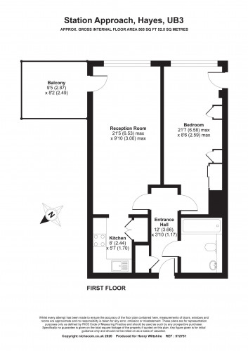 Floorplan for Cardinal Building, Station Approach, Hayes, London, UB3