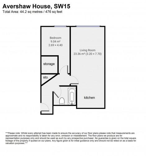 Floorplan for Avershaw House, SW15