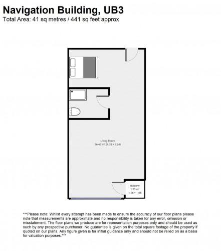 Floorplan for Navigation Building, Station Approach, Hayes, London, UB3
