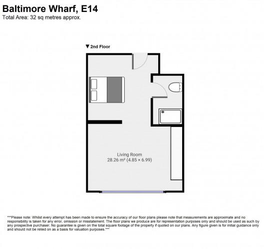 Floorplan for Baltimore Wharf, E14