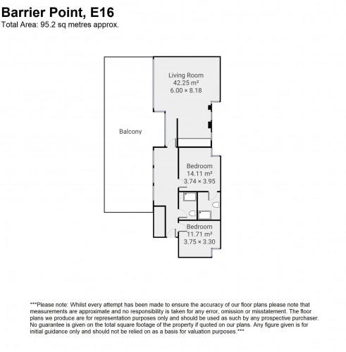 Floorplan for Barrier Point, E16