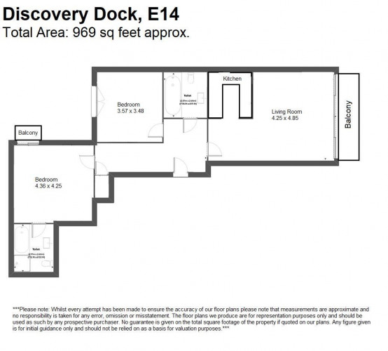 Floorplan for Discovery Dock Apartments East, South Quay Square, London, E14